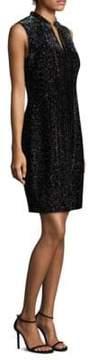 Elie Tahari Arabella Velvet Mini Dress