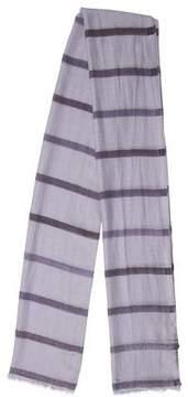 Loro Piana Cashmere & Silk-Blend Striped Scarf w/ Tags