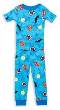 AME Sleepwear Little Boy's Four-Piece Justice League Tee & Pants Set