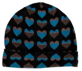 Diane von Furstenberg Wool Heart Beanie
