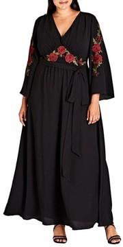 City Chic Plus Size Women's Adorned Maxi Dress