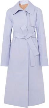 Jil Sander Cotton-blend Trench Coat - Blue