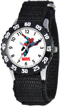Marvel Spiderman Time Teacher Kids Black Fast Strap Watch
