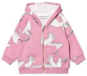 Mini Rodini Pink Peace Zip Hoodie