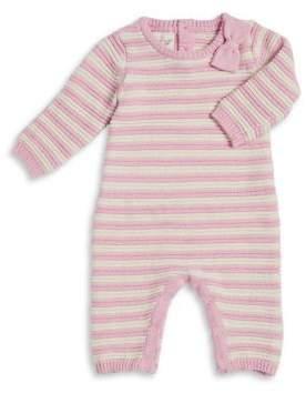 Cuddl Duds Baby Girl's Striped Knit Footie