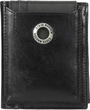 Steve Madden Grommet Glazed Leather L-Fold Wallet Wallet Handbags