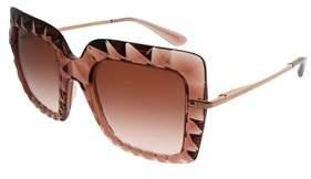 Dolce & Gabbana Pink Square Sunglasses.