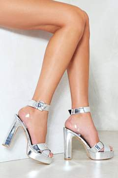 Nasty Gal It's All So Clear Now Metallic Heel