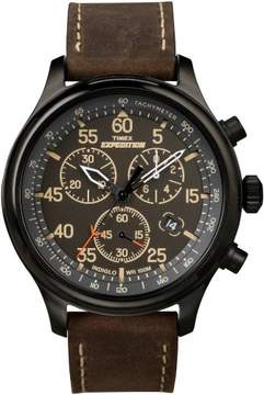 Timex Mens Expedition Brown Strap Watch One Size Brown/black