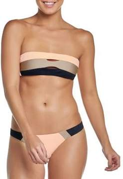 Pilyq Sandstone Colorblock Bandeau Bikini Top