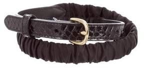 Diane von Furstenberg Python Waist Belt