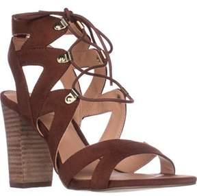 XOXO Barnie Block-heeled Lace Up Sandals, Tan.