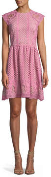 Shoshanna Mori Lace A-Line Mini Dress