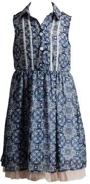 Youngland Girls 4-6x Collared Paisley Dress