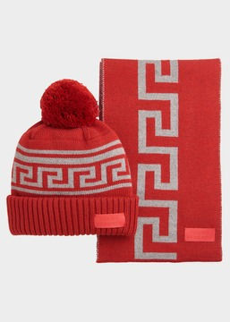 Versace Wool Hat and Scarf Set
