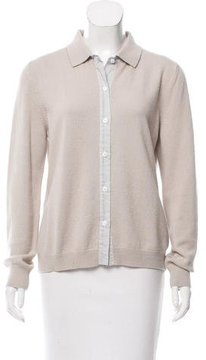 Amina Rubinacci Wool-Blend Collared Cardigan
