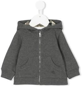 Burberry hooded zip jacket