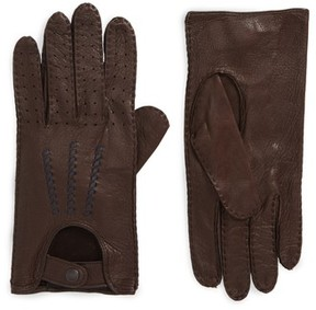 John Varvatos Men's Deerskin Driving Gloves
