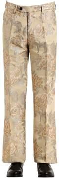 Christian Pellizzari 27cm Lurex Floral Jacquard Pants