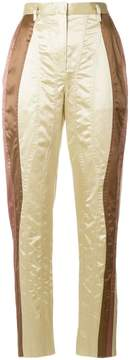 Bottega Veneta panelled high waisted trousers