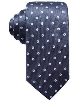 Ryan Seacrest Distinction Men's Derulo Dot Slim Silk Tie, Created for Macy's