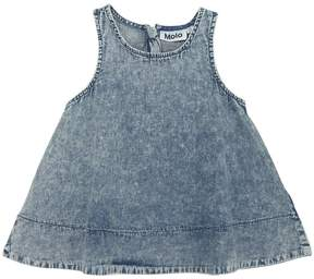 Molo Vintage Effect Cotton Chambray Top