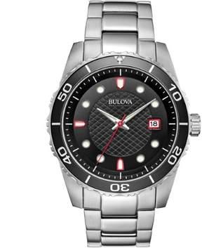 Bulova Sport Black Dial Stainless Steel Men's Watch 98A195