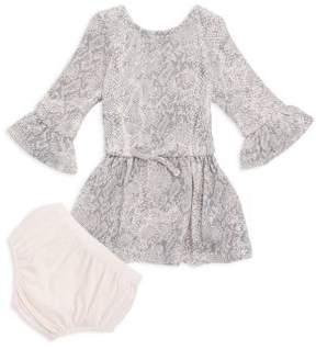 Splendid Baby's Two-Piece Python-Print Dress & Matching Bloomers Set
