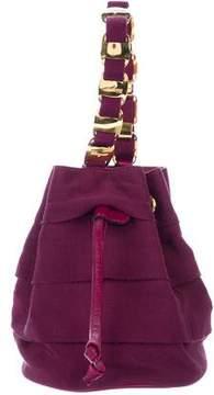 Salvatore Ferragamo Grosgrain Mini Bucket Bag