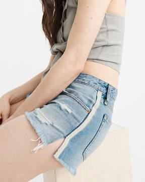Abercrombie & Fitch Side Stripe Low Rise Boyfriend Shorts