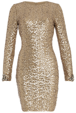 Belle By Badgley Mischka Sequin Dress Champagne Where