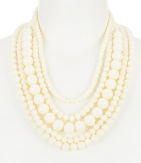 Anna & Ava Rudolph Beaded Multi-Strand Statement Necklace