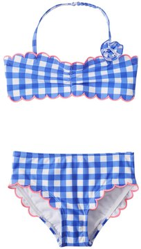 Hula Star Girls' Summer Skies Gingham Bikini Set (2T6X) - 8154245
