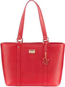 St. John Collection Textured Faux-Leather Zip Tote Bag