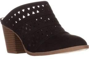 Style&Co. Sc35 Jordii Perforated Block-heel Mule Pumps, Black.