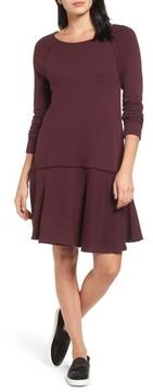 Caslon Petite Women's Ruffle Hem Knit Dress