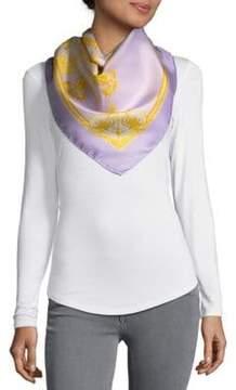 Saks Fifth Avenue Foulard Printed Silk Scarf