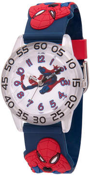 Marvel Spiderman Boys Blue Strap Watch-Wma000170