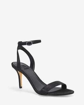 White House Black Market Black Strappy Heels