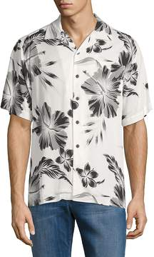 Standard Issue NYC Men's Printed Camp Button-Down Shirt