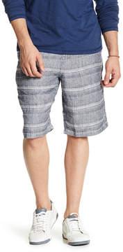 Lucky Brand Striped Linen Plain Front Short