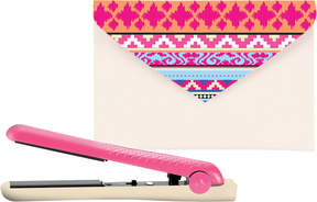 Amika Ceramic Mighty Mini Styler in Neon and Nude Tribal