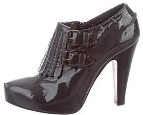 Moschino Patent Leather Platform Booties