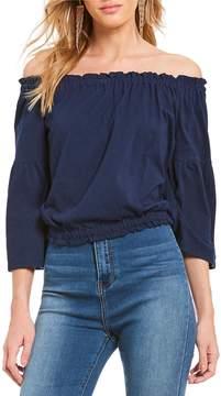 Chelsea & Violet Cotton Jersey Off The Shoulder Top