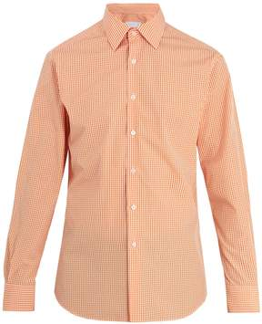Prada Single-cuff gingham cotton shirt