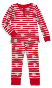 Hatley Toddler's, Little Girl's & Girl's Two-Piece Cotton Snow Flake Pajama Set