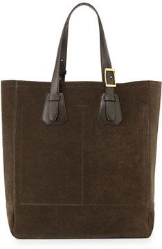 Tom Ford Men's Suede Tote Bag, Olive