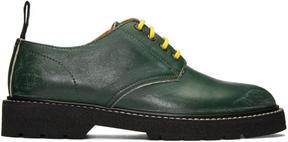 Maison Margiela Green Leather Distressed Derbys