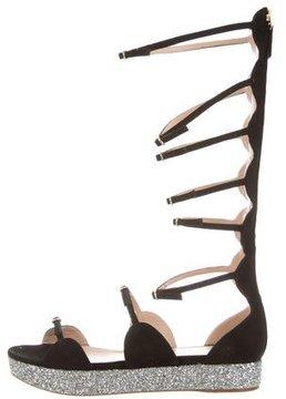 Giambattista Valli Suede Gladiator Sandals w/ Tags
