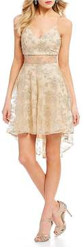 B. Darlin Embroidered High-Low Dress
